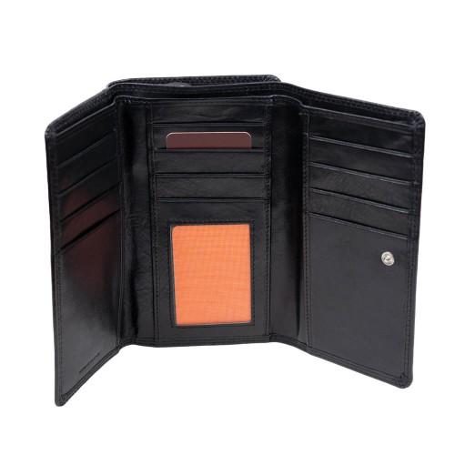 Portofel din piele neagra PTF227