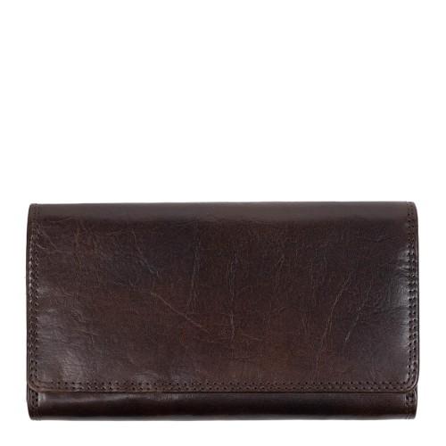 Portofel din piele maro inchis PTF228