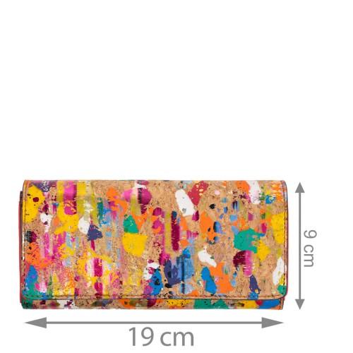 Portofel dama piele rosie/paisley PTF234