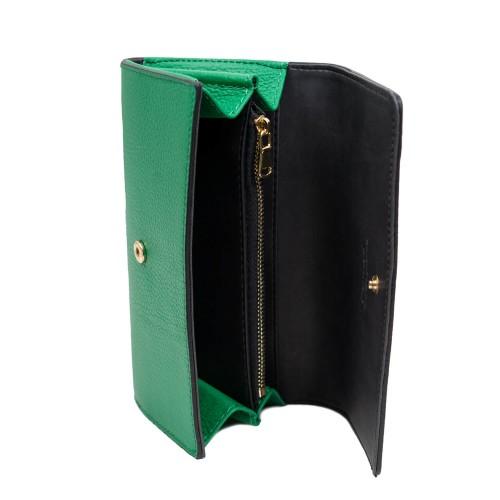 Portofel piele verde PTF235