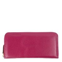 Portofel din piele naturala roz PTF068