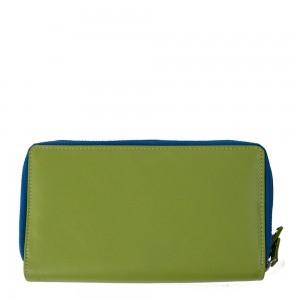 Portofel piele verde fistic PTF073