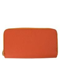 Portofel piele oranj PTF075