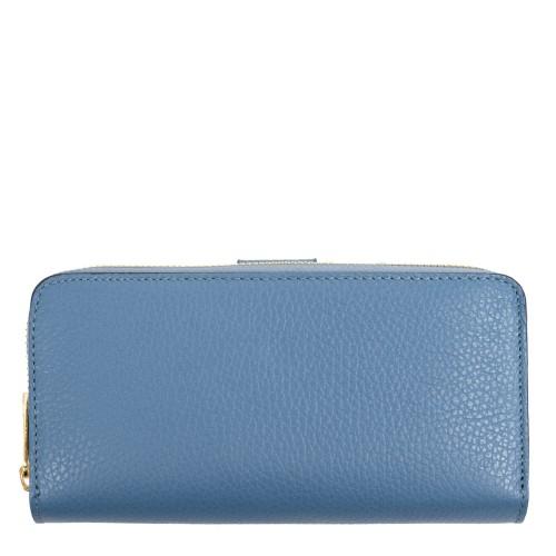 Portofel piele albastru prafuit PTF077