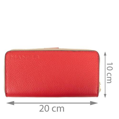 Portofel dama piele rosie PTF079
