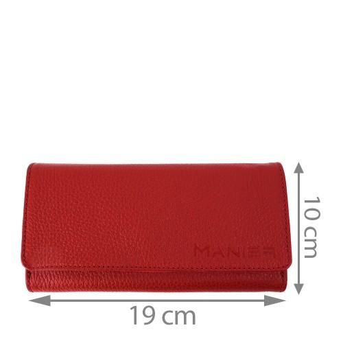 Portofel piele rosie PTF080