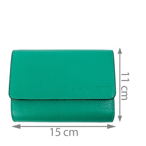 Portofel piele verde turcoaz PTF086