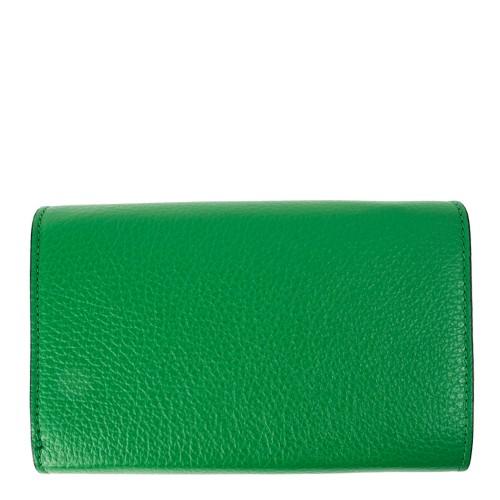 Portofel piele verde PTF087