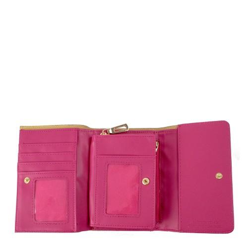 Portofel piele roz inchis PTF089