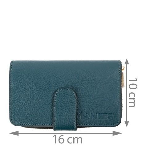 Portofel piele verde inchis PTF091