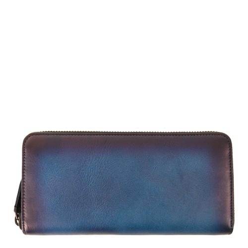 Portofel piele albastru electric PTF095