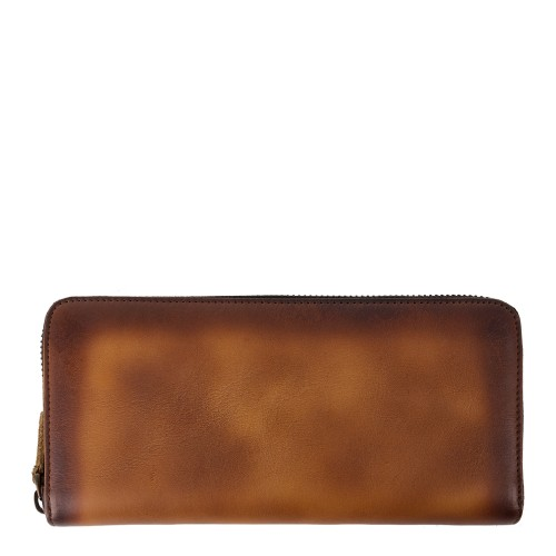 Portofel piele maro cognac inchis PTF096