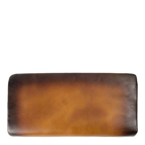 Portofel piele maro ocru inchis PTF106