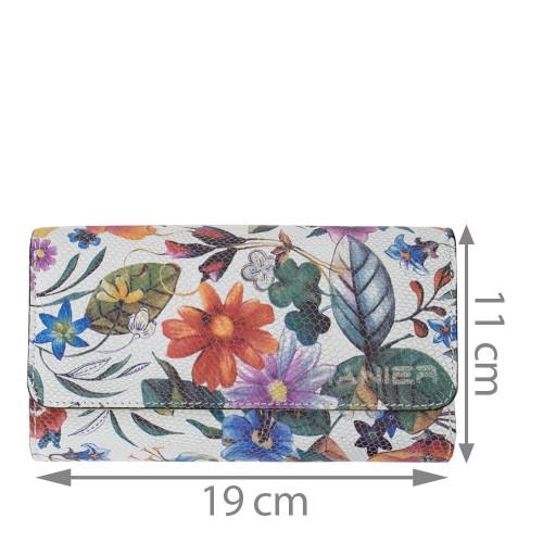 Portofel piele imprimeu flori mari PTF107