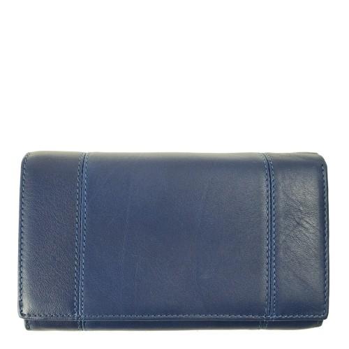 Portofel dama piele albastru inchis PTF109