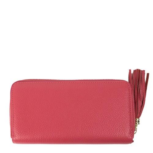 Portofel din piele roz PTF116