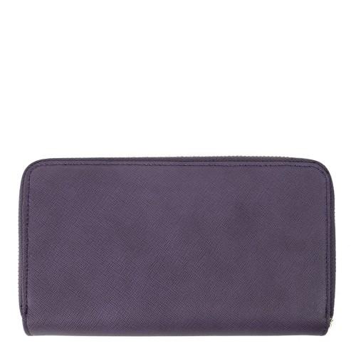 Portofel violet din piele naturala PTF117