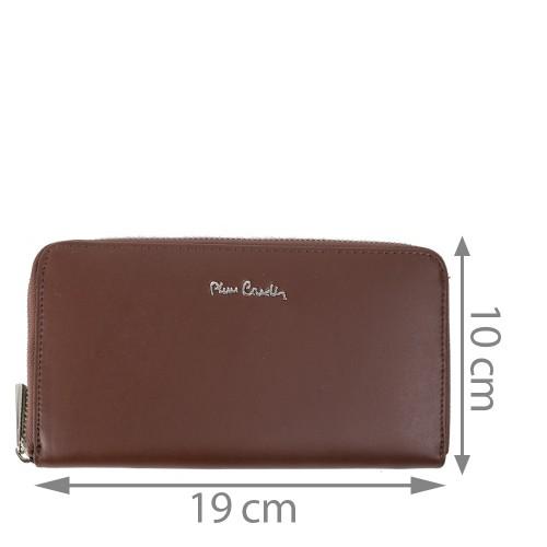 Portofel dama maro ciocolatiu din piele PTF129