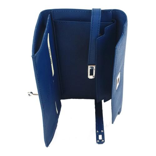 Portofel din piele albastra PTF135