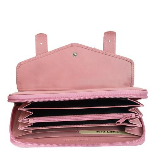 Portofel dama piele roz PTF138