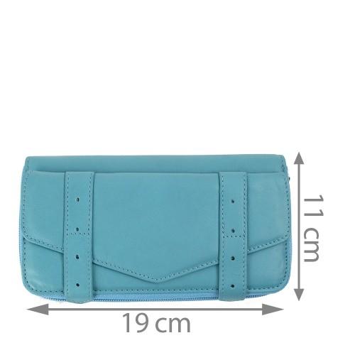 Portofel dama piele bleu PTF139