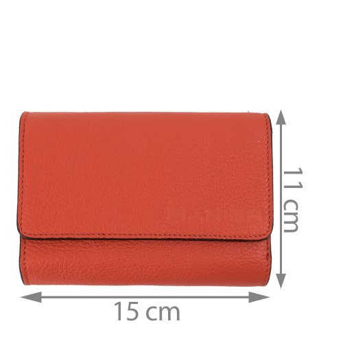 Portofel piele rosu corai PTF143