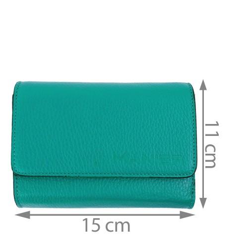 Portofel piele albastru turcoaz PTF145