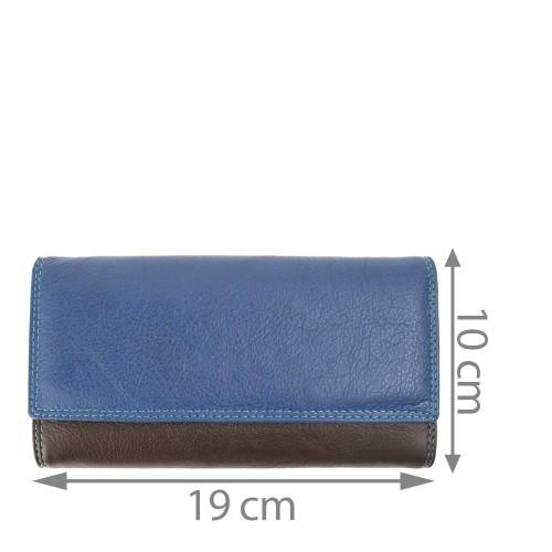 Portofel piele bleumarin/multicolor PTF150