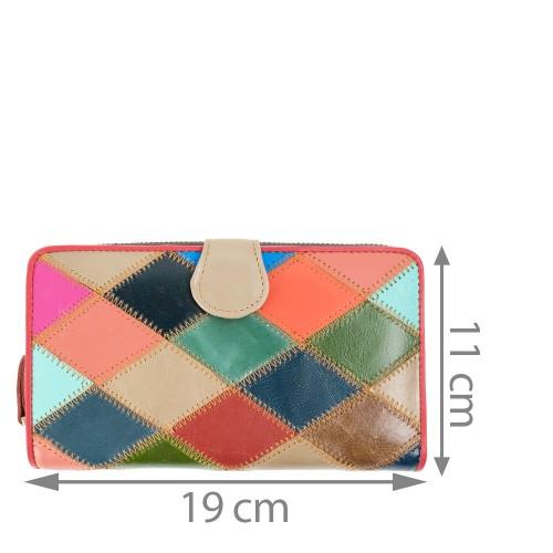 Portofel piele multicolor PTF152
