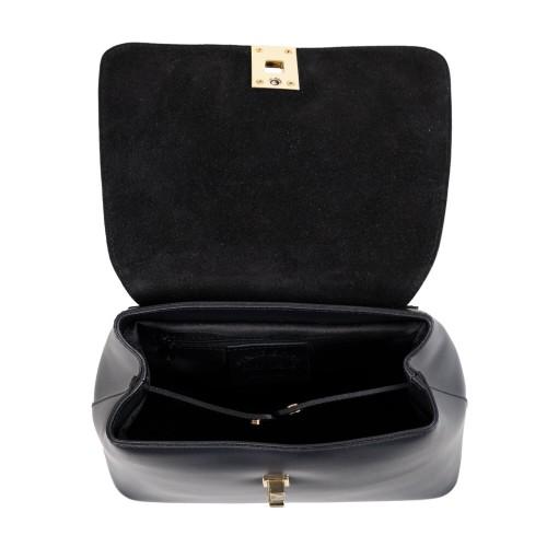 Rucsac piele neagra imprimeu sarpe GF1633