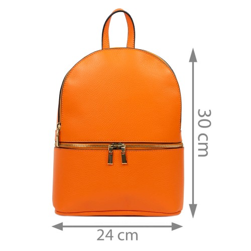 Rucsac piele naturala oranj GF2526