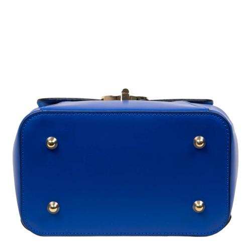Rucsac piele albastra cu imprimeu GF2536