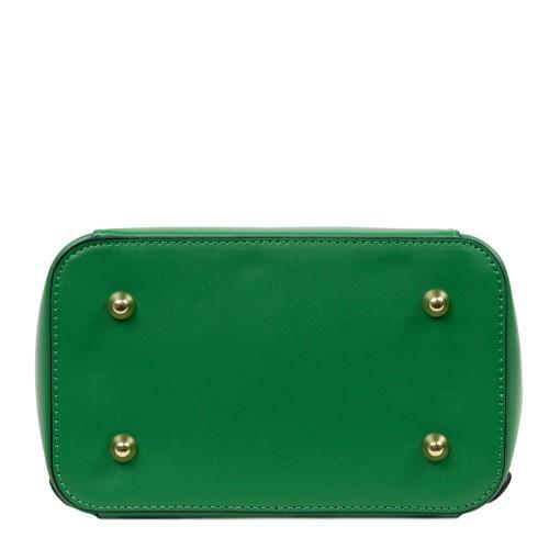 Rucsac piele verde imprimeu paisley GF2606