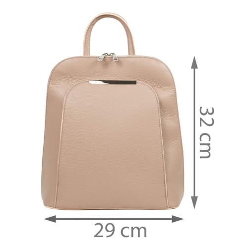 Rucsac dama piele roz prafuit GF2696